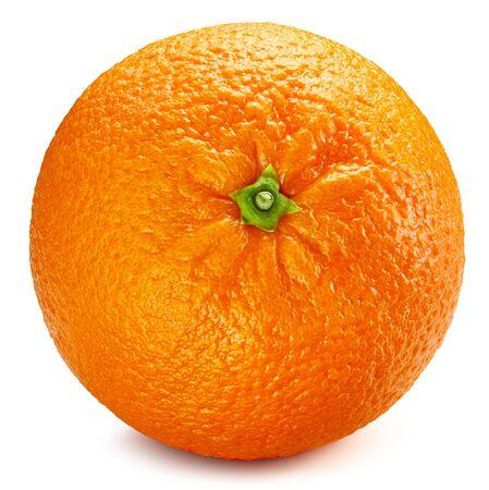 Fresh oranges fruits. Orange isolated on white background. Orange Clipping Path.