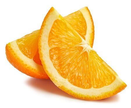 Orange fruit. Orange slice isolated on white background. Orange with clipping path. Stock Photo