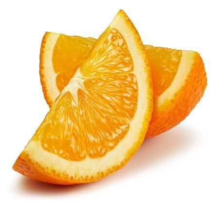 Orange fruit. Orange slice isolated on white background. Orange with clipping path.
