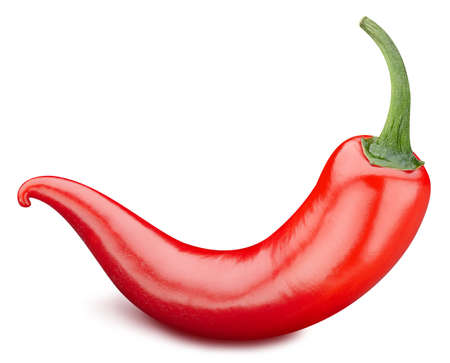 Red hot chili peppers isolated on white background. Peppers chili. Full depth of field Zdjęcie Seryjne