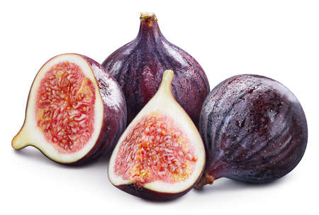 Organic fresh fig isolated on white. Full depth of field. Fig