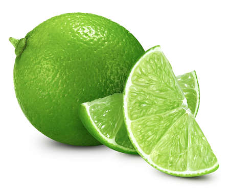 Lime isolated on white background.