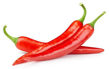 Chili on white isolated.