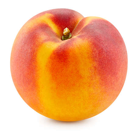 Peach isolated on white background. Standard-Bild