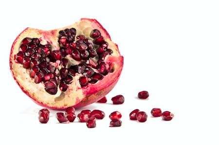 Red pomigranate on the white background Stock Photo - 11321913