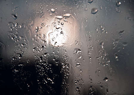 Drops of the rain on the window