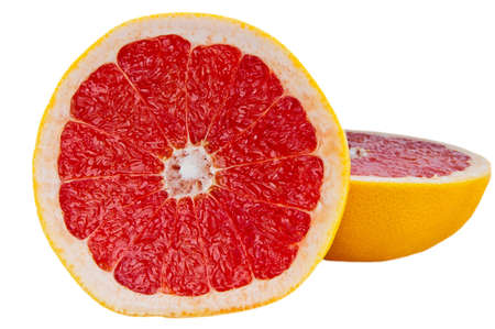 Red Grapefruit on white background Stock Photo - 12691621