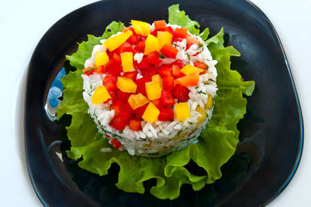 rice salad on a plate