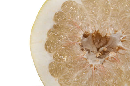cut grapefruit on white background Stock Photo - 16220839