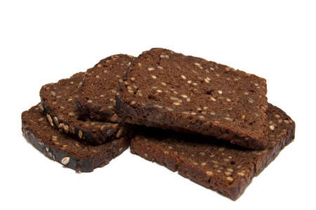 Black rye bread with grains Stock Photo