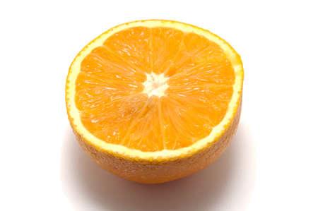 Half of orange on a white background Stock Photo - 16307147