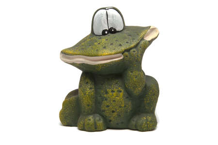 frog figurine on a white background photo