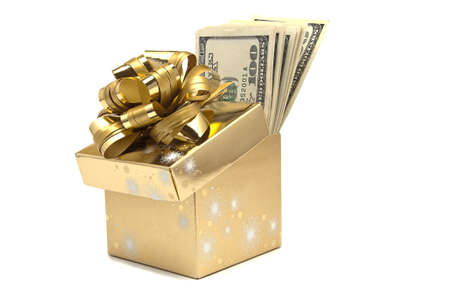 The present box full of dollars