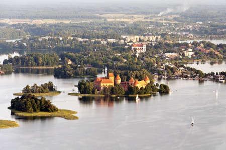 Island castle in Trakai. Lithuania