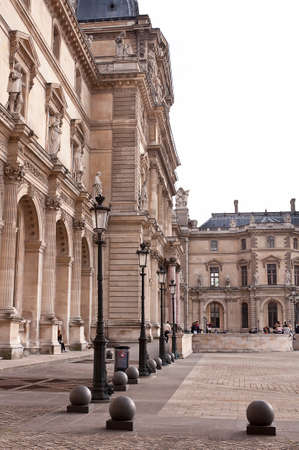 courtyard of the Louvre in Paris Stock Photo