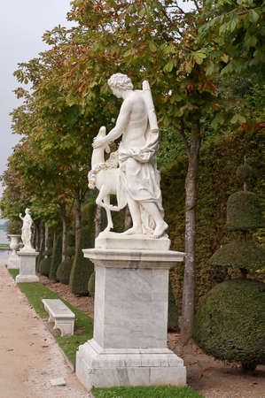 the statue in the park of Versailles
