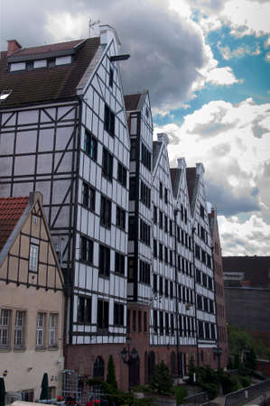 Historic houses of Gdansk in Poland