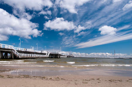 Pier on the coast of Baltic sea in Sopot, Poland Stock Photo