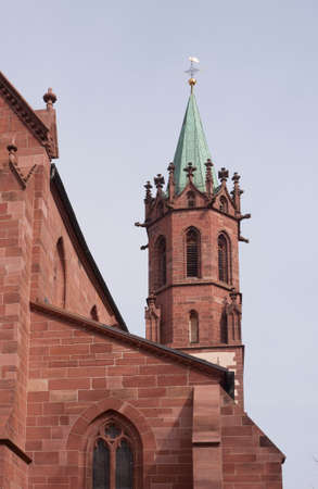 Detail view of a beautiful church in Ladenburg, Germany