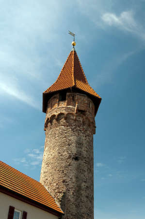 ancient tower in Ladenburg. Germany