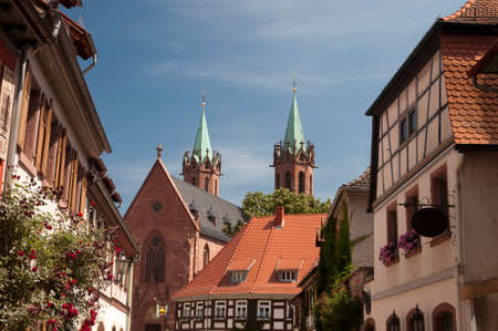 old building and church in Ladenburg. Germany