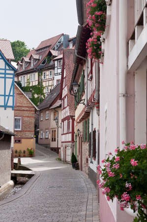 old street in the German town Stock Photo