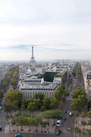 Paris street view from above Stock Photo