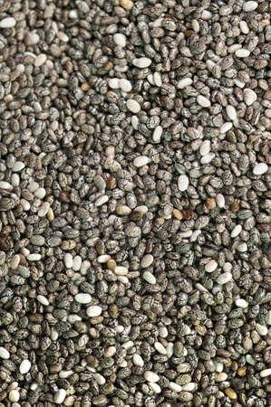 Loads of macro chia seeds Stock Photo