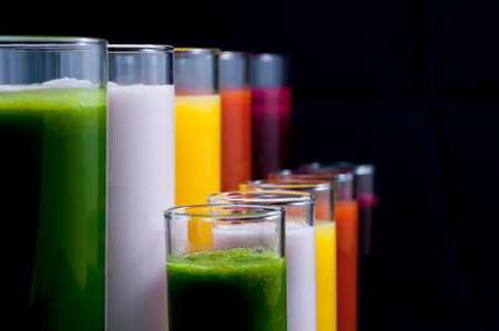 Fresh, colurful and healthy drinks  Stock Photo