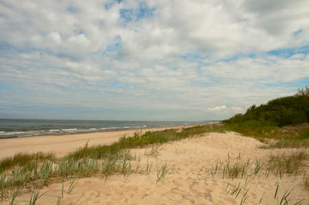 Sand dunes in the Baltic Sea