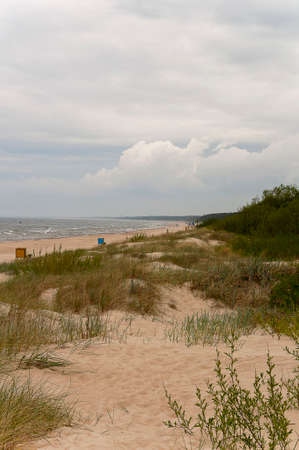 Sand dunes and the beach in the Baltic Sea