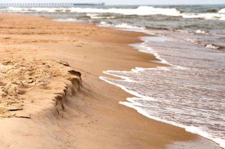 Sandy shore of the Baltic Sea