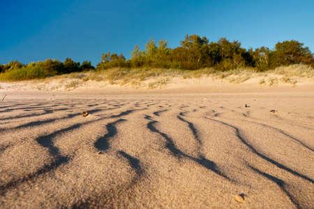 Sand on the Baltic beach