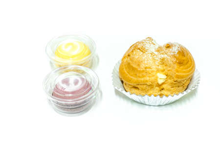mouthwatering: Choux Cream and macarons