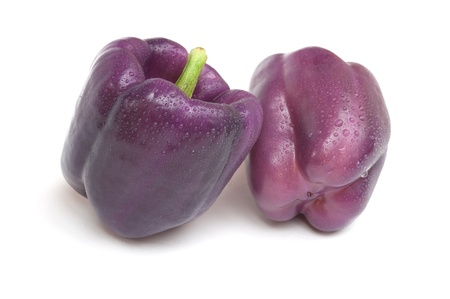 bell pepper: Purple Beauty Pepper Stock Photo