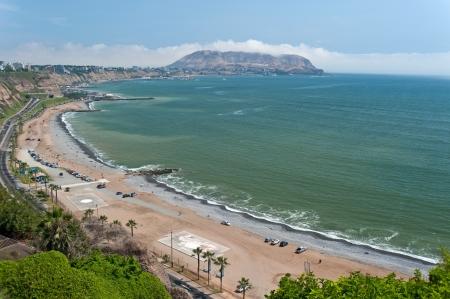 miraflores district: Lima, Peru. Beach in the district of Miraflores