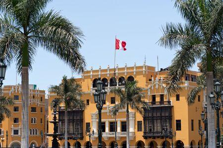 plaza de armas: Plaza de armas, Lima Stock Photo