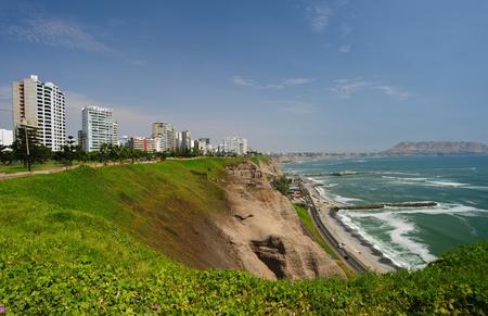 miraflores district: Costa verde (green coast) in Lima, Peru, district of Miraflores Stock Photo
