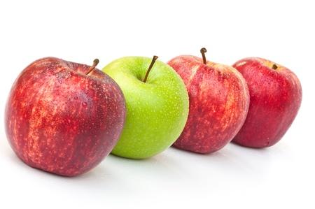 granny smith: Red royal gala and green granny smith apples Stock Photo