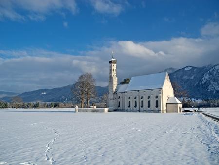 schwangau: St  Coloman church near Schwangau, Germany Stock Photo