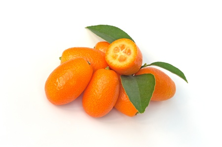 The kumquat is a small edible fruit Stock Photo - 22019265