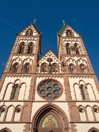 freiburg: Herz Jesu Church, Freiburg Stock Photo