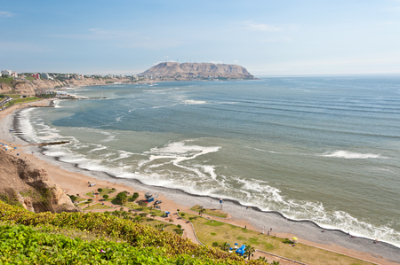 miraflores district: Costa verde,  green coast,  in Lima, Peru