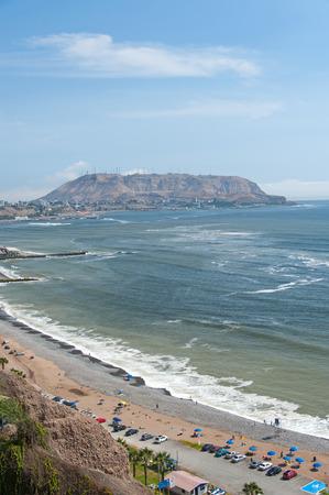 miraflores district: Lima, Costa Verde  green coast