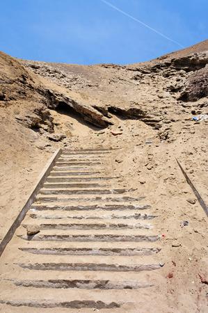 nowhere: Stairway to nowhere Stock Photo