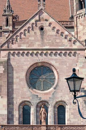 freiburg: Front of Freiburg Cathedral