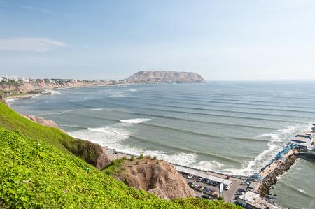 Lima, Peru. View from Miraflores to Chorrillos photo