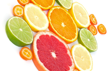 cumquat: Assortment of citrus fruits Stock Photo