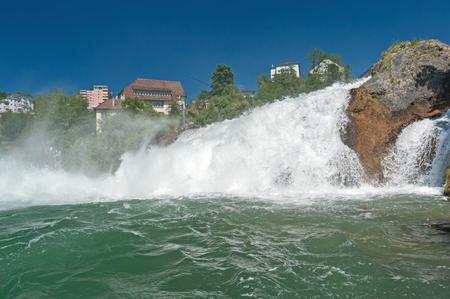 castle if: Rhine Falls near Schaffhausen, Switzerland