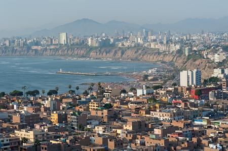 Lima, Peru at dusk Stock Photo